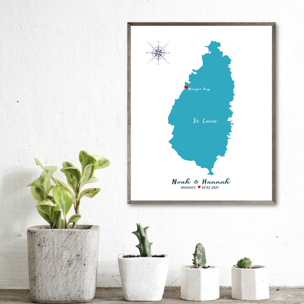 personalized wedding map-location map-wedding anniversary gift