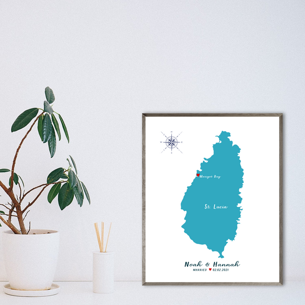 wedding location map-anniversary gift for husband-travel gift ideas
