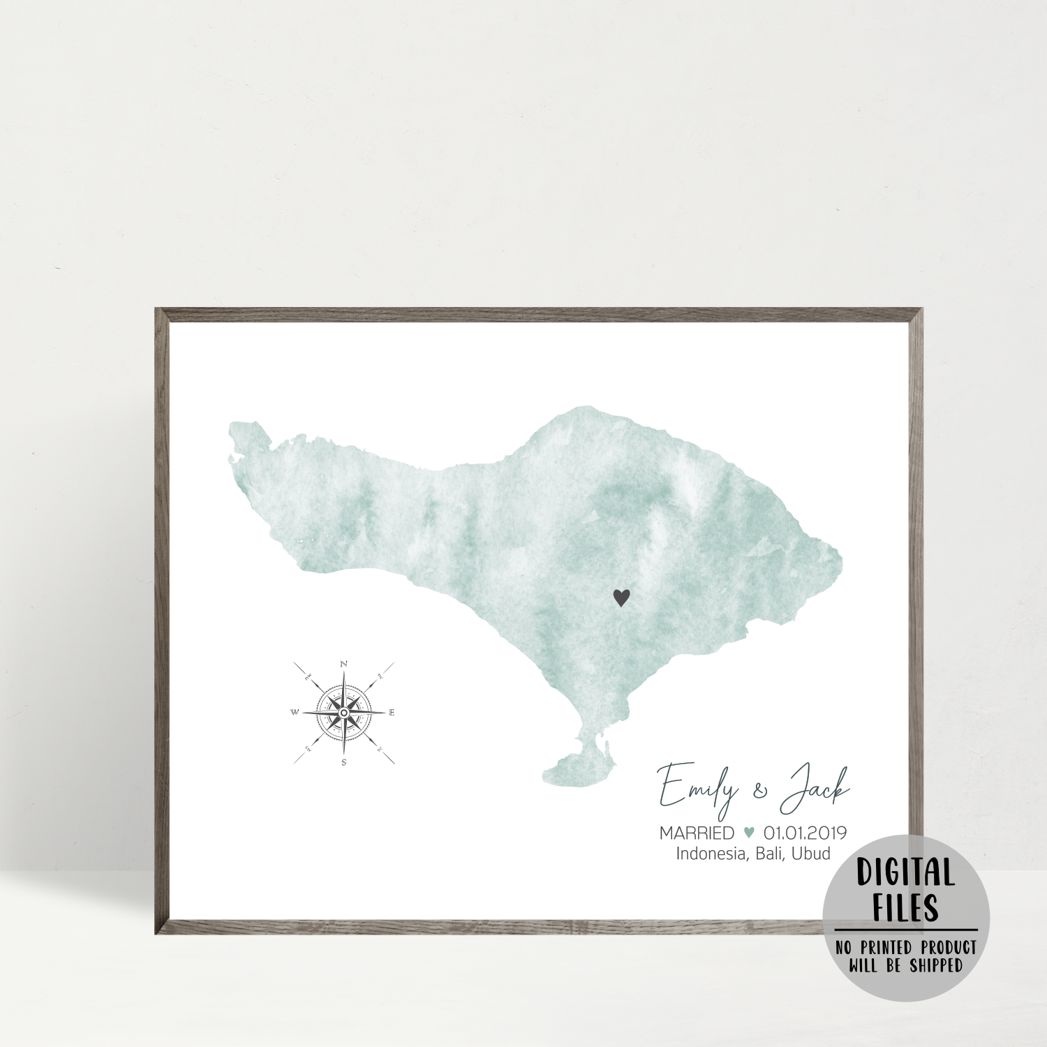 personalized wedding location map-anniversary gift for him-gift for her