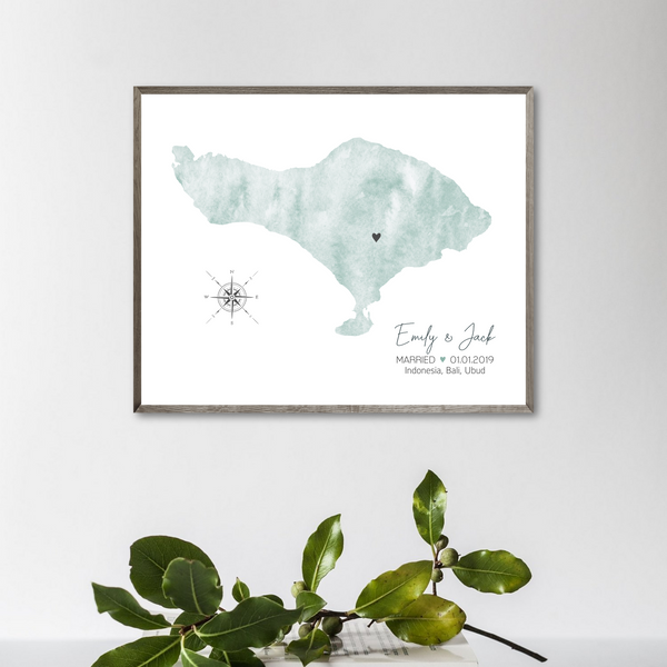 personalized wedding map print-special occasion map gift