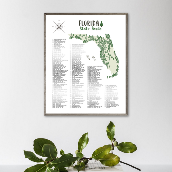 florida state parks map-gift for hiker