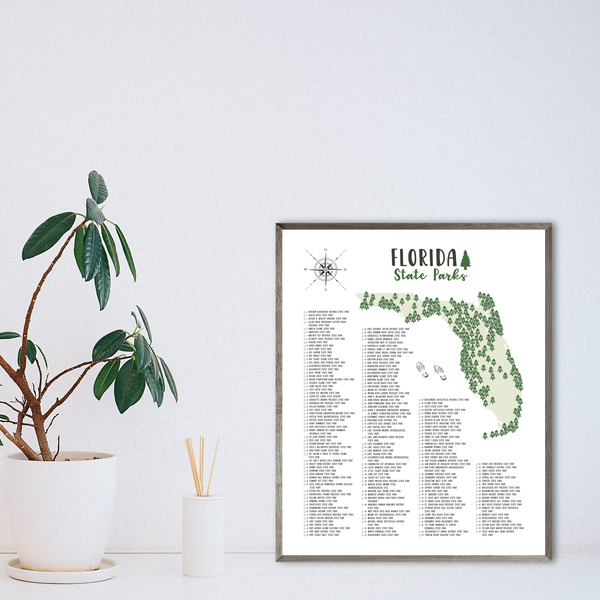 florida state parks map print-hiking gift ideas