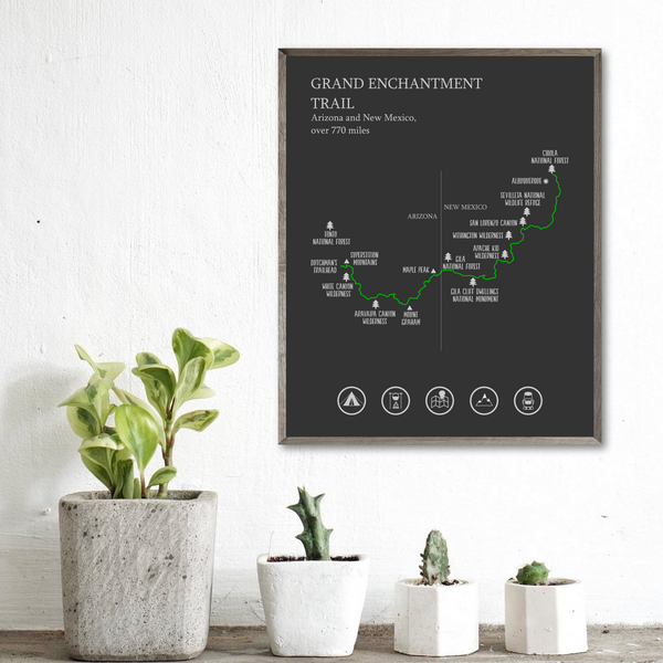 Grand Enchantment trail map-hiking gift ideas-adventure print