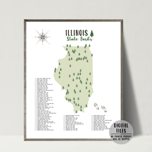 illinois state parks map