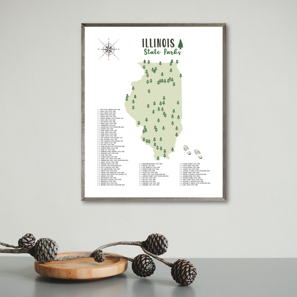 illinois state parks map print-illinois state parks checklist