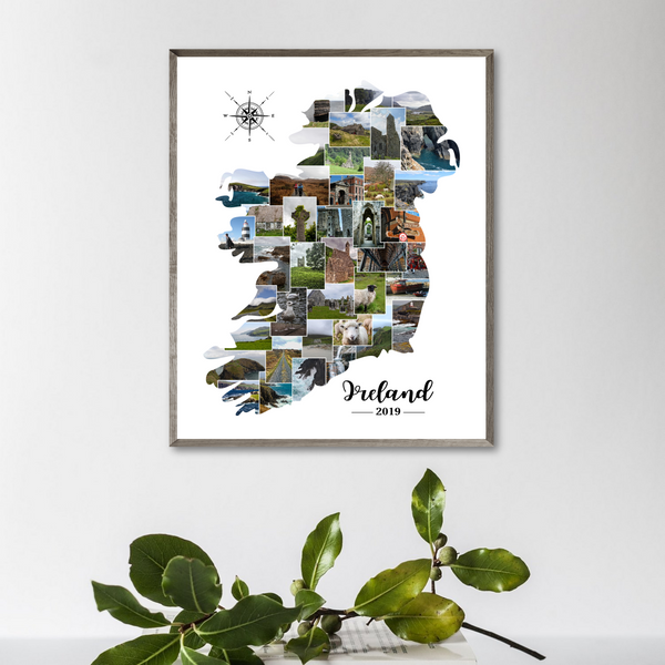 map photo collage-travel collage-personlaized gift for traveler