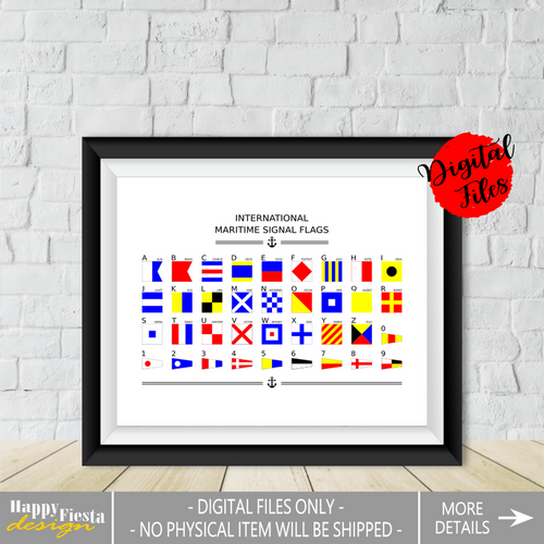 Nautical Signal Flags-Maritime Signal Flags Poster