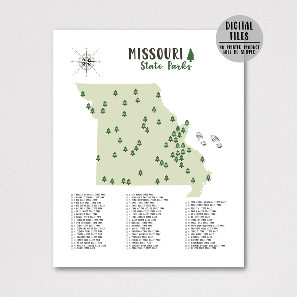 missouri state parks map print-gift for hiker