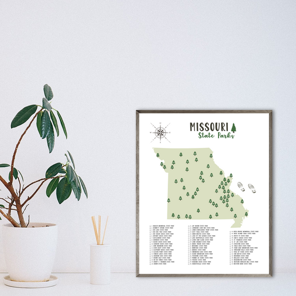 missouri state parks map print-hiking gift ideas