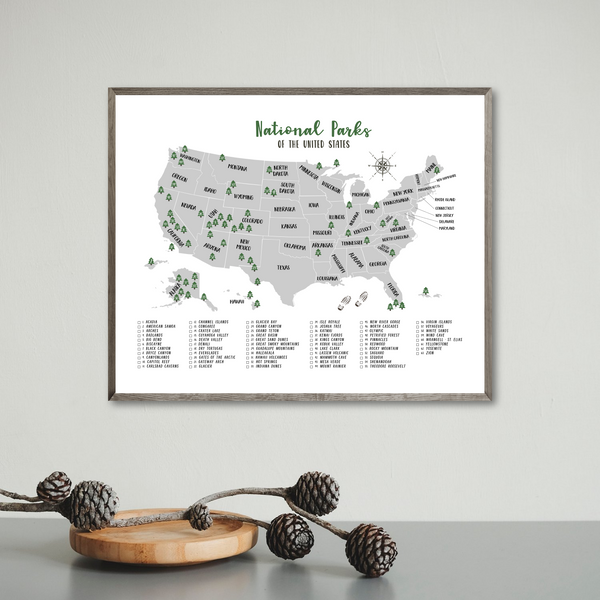 National Parks Of United States-All Parks Included-travel gift ideas