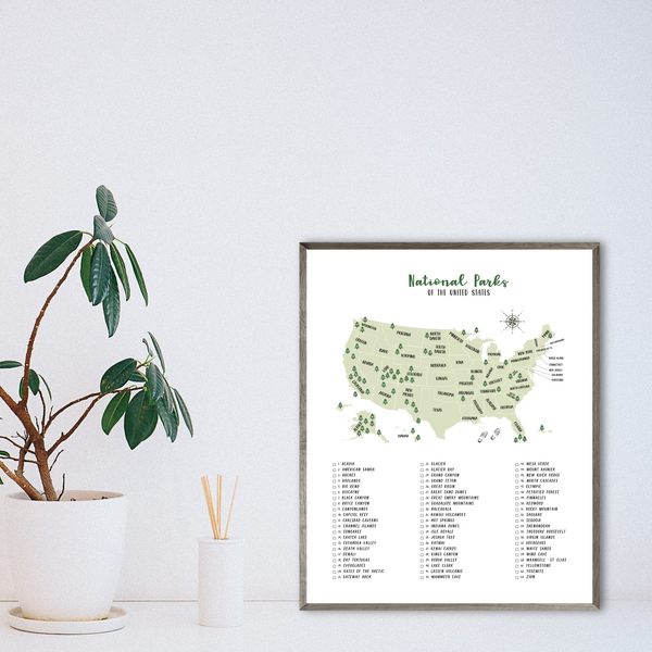 Usa national parks list-national parks checklist-travel gift