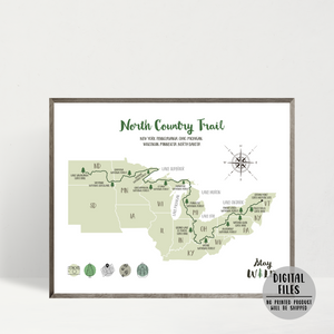 north country trail map-north country trail hiking map