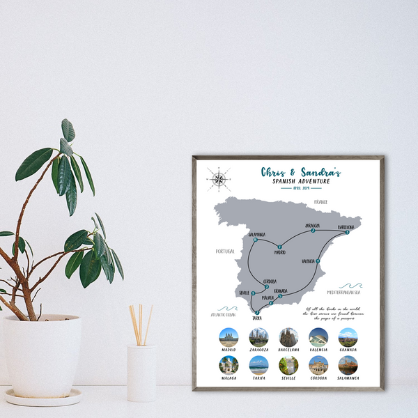 gift for traveler-personalized map photo collage-map collage-travel collage