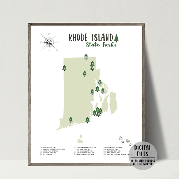 rhode island state parks map-gift for hiker