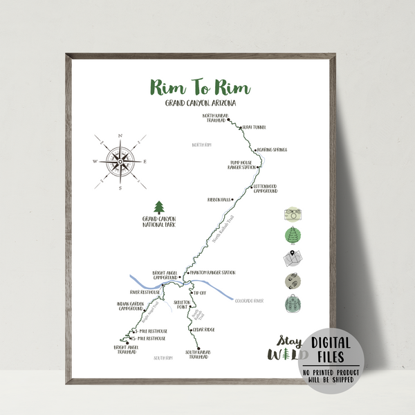 grand canyon rim to rim hiking map