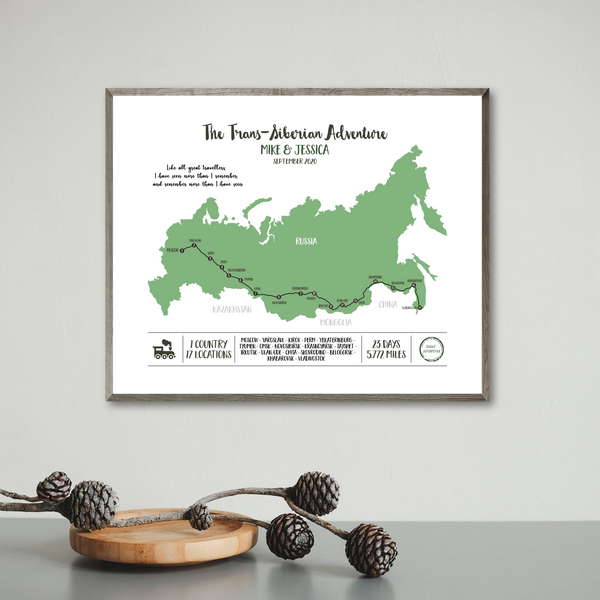 personalized travel map-train travel map print-travel gift