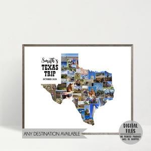 custom photo collage-travel collage-personalized gift for traveler