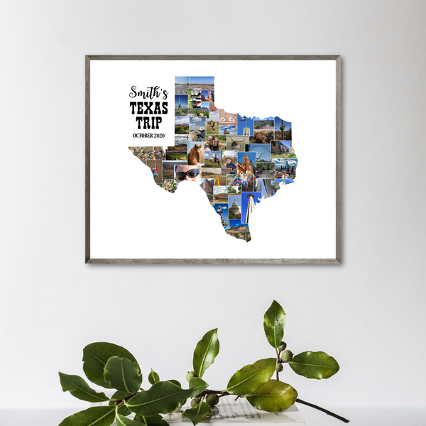state photo collage-texas photo collage-travel collage