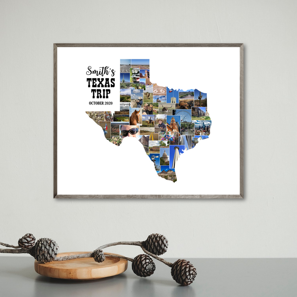 travel photo collage-personalized photo collage-custom collage map