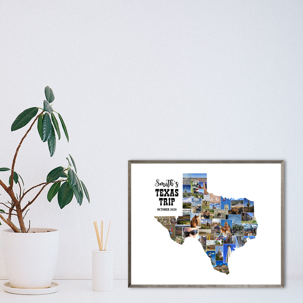 personalized photo collage-travel gift ideas-custom map collage