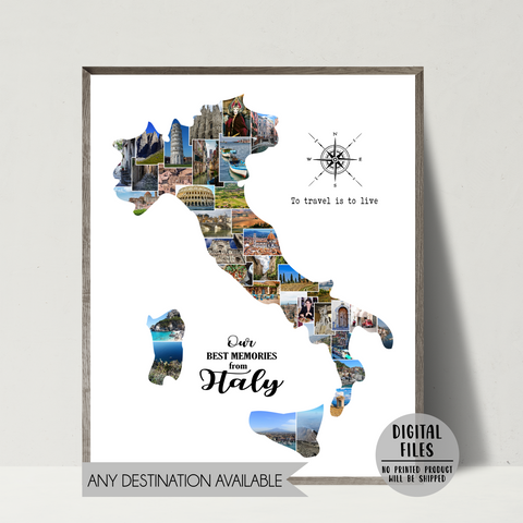 italy photo collage-personalized gift for traveler