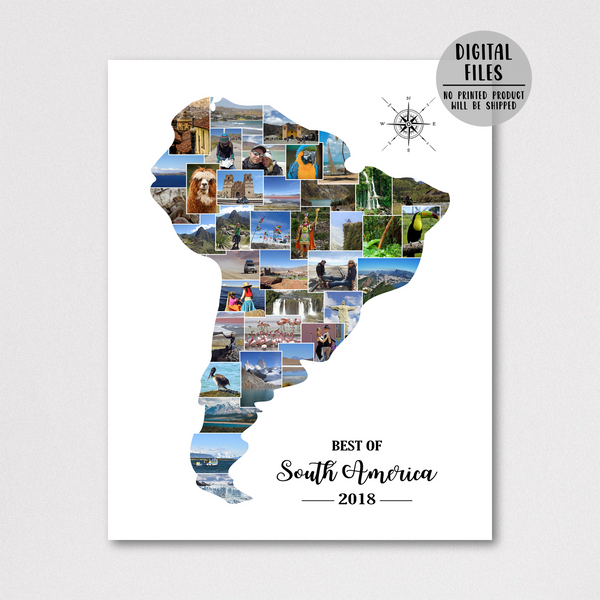 travel photo collage-map collage-personalized gift for traveler