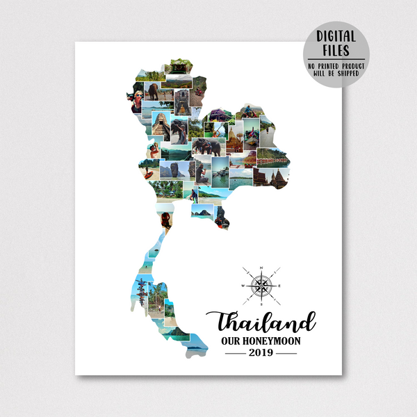 personalized photo collage-travel photo collage-custom collage