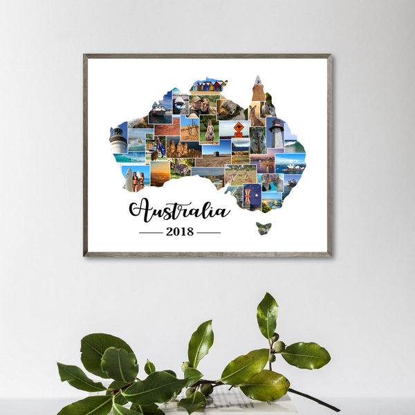 travel map photo collage-gift for traveler