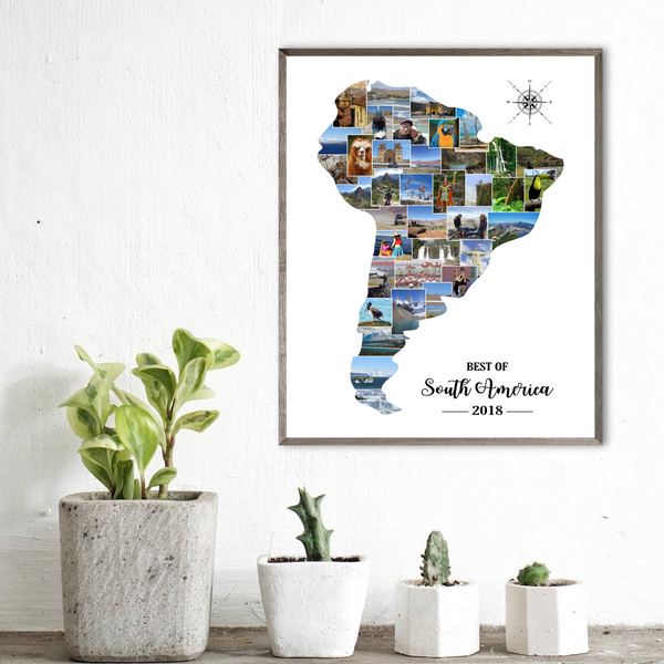 south america photo collage-travel collage-gift for backpacker