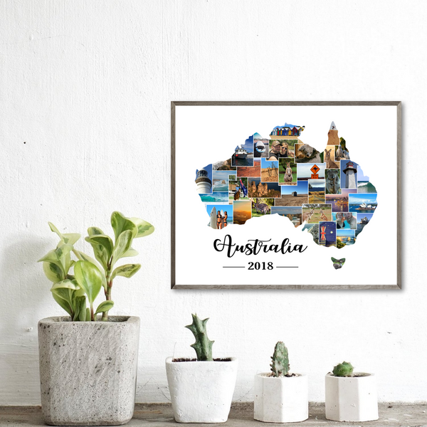 map photo collage-travel gift ideas-travel collage
