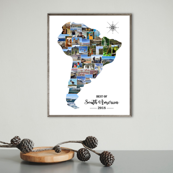 custom photo collage-travel map collage-backpacking gift ideas
