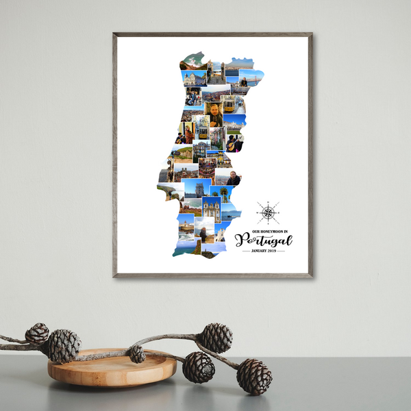 personalized travel photo collage-gift for traveler-portugal collage