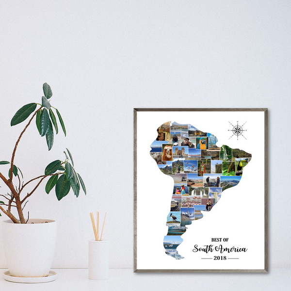 personalized map collage-travel photo collage-gift for traveler