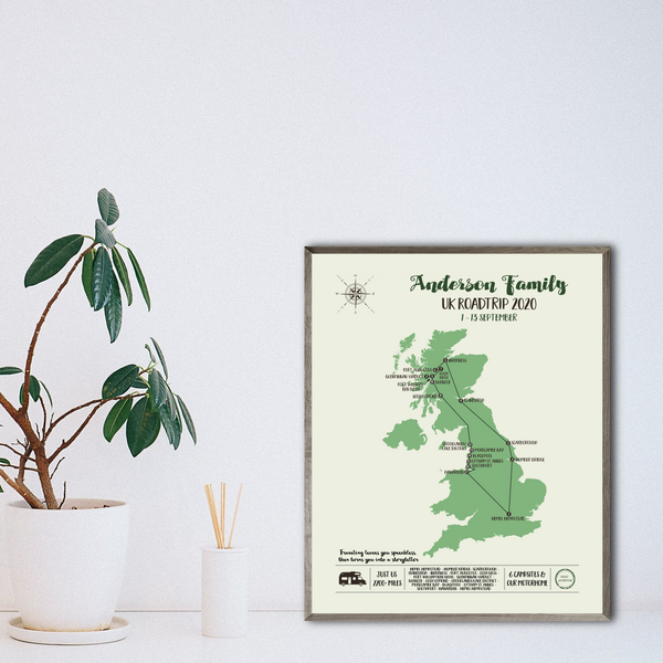 personalized travel map print-england travel map poster