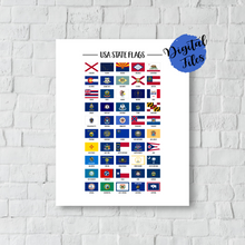 Printable Usa State Flags-50 US States Flags-All State Flags