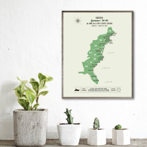 usa map-personalized map-custom travel map