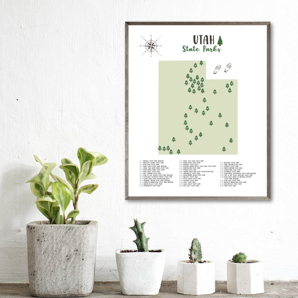 utah state parks map print-travel gift ideas