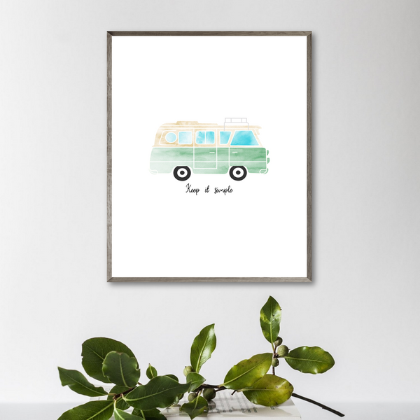 vanlife print-keep it simple print-inspirational quote print