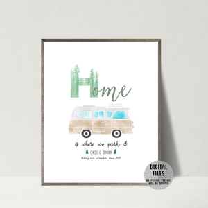 personalized van print-gift for vanlifer-vanlife couple gift