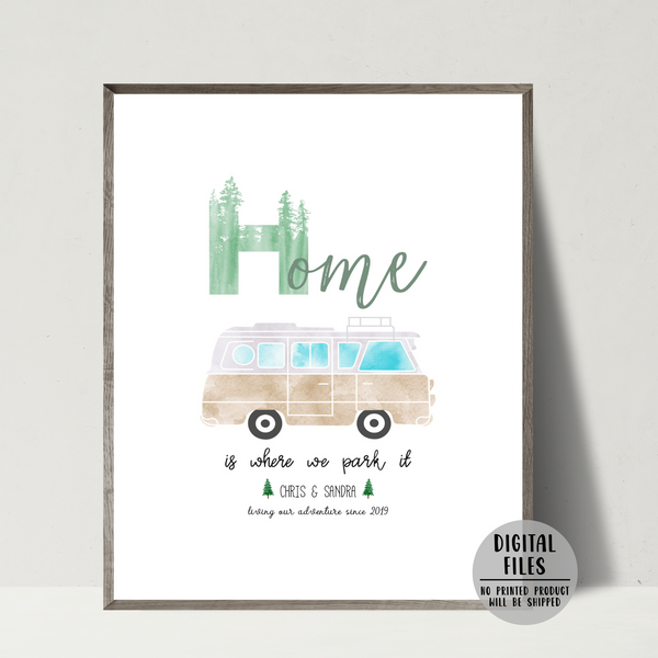 personalized van poster-van couple gift-van decor ideas