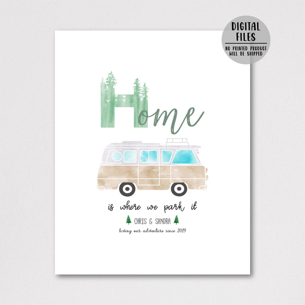 personalized van print-gift for him-gifr for her-van decir ideas