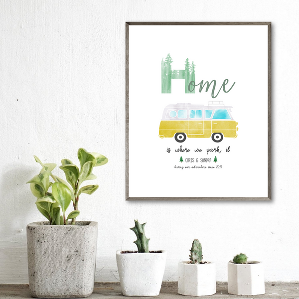 personalized van print-gift for vanlifer-van decor ideas