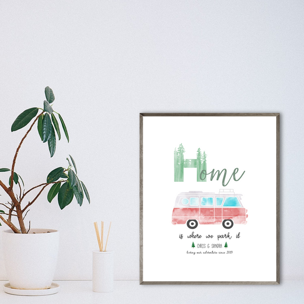personalized van print-van gift-camper van decor ideas