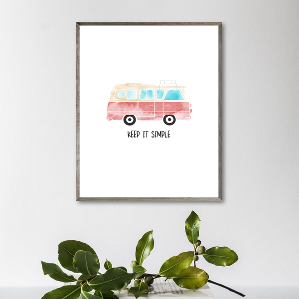 gift for vanlifer-van print-keep it simple