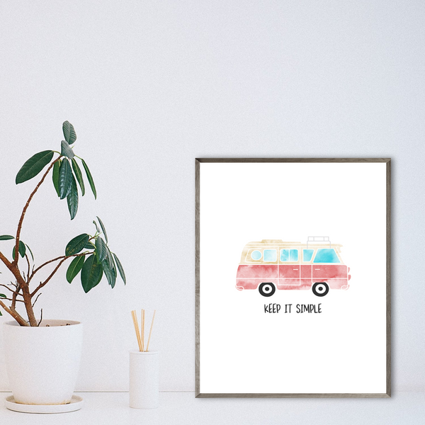 camper van gift-van decor ideas-vanlife print