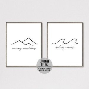 moving mountains print-riding waves print-adventure poster