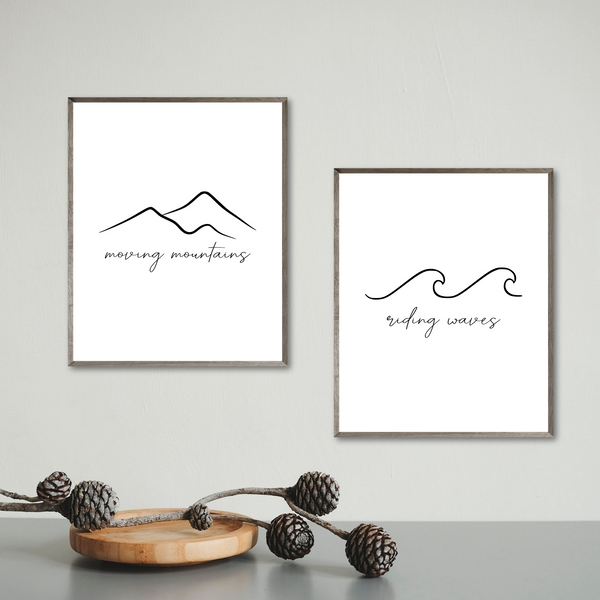 riding waves moving mountains print-minimalist home decor
