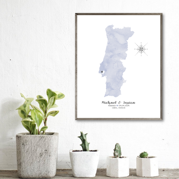 personalized wedding location map-special occasion map gift