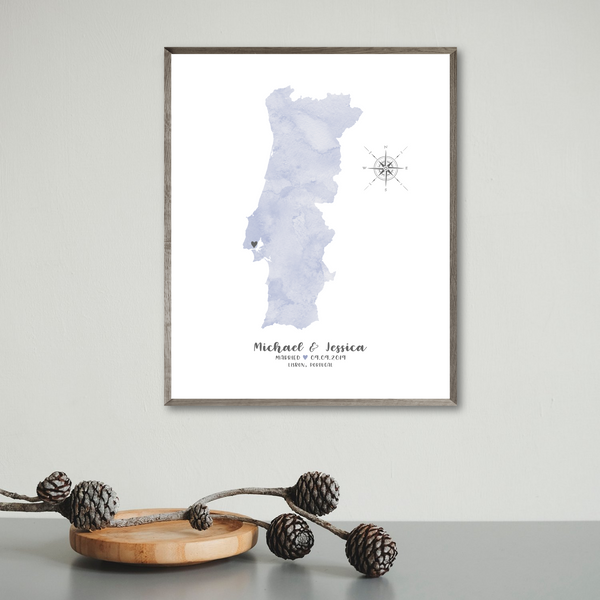 wedding map print-personalized gift for husband-gift for wife