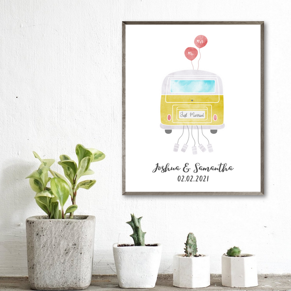 personalized van print-wedding gift for couple
